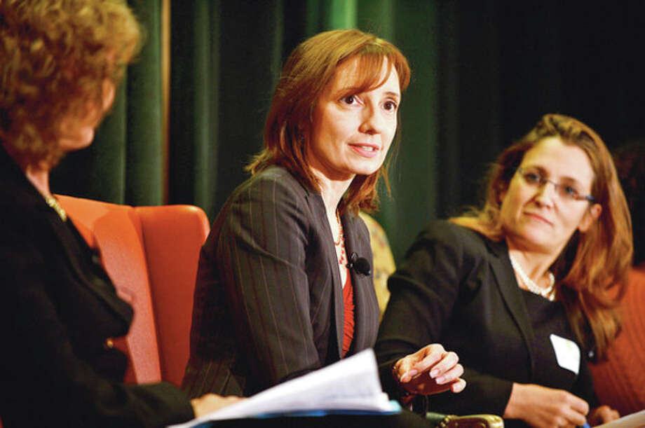 The Women's Business Development Council (WBDC) held a panel discussion including Susan Sabbot, President of American Express OPEN, during their annual Business Breakfast at the Stamford Marriott Thursday.Hour photo / Erik Trautmann / (C)2012, The Hour Newspapers, all rights reserved