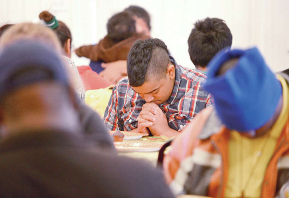 The annual Heart-to-Heart Foundation Thankgiving Feast Satuday at Calvary Baptist Church. Heart-to-Heart is a nonprofit formed by the Rev. Nellie Mann to help the needy.Hour photo / Erik Trautmann / (C)2012, The Hour Newspapers, all rights reserved