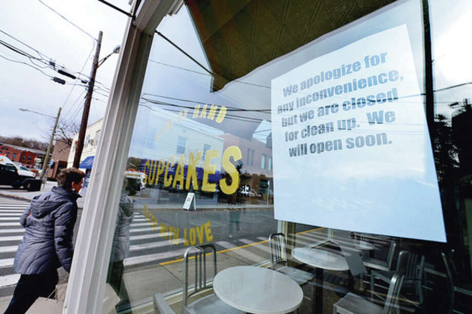 Many of the stores on and around Main St in Westport were damaged by floodwaters during Hurricane Sandy and are now attempting to rebuild.Hour photo / Erik Trautmann / (C)2012, The Hour Newspapers, all rights reserved