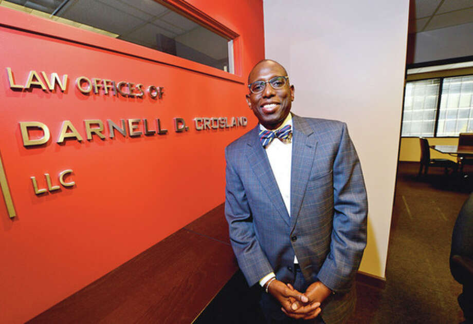 Hour photo / Erik TrautmannDarnell Crosland has been elected NAACP president. / (C)2012, The Hour Newspapers, all rights reserved