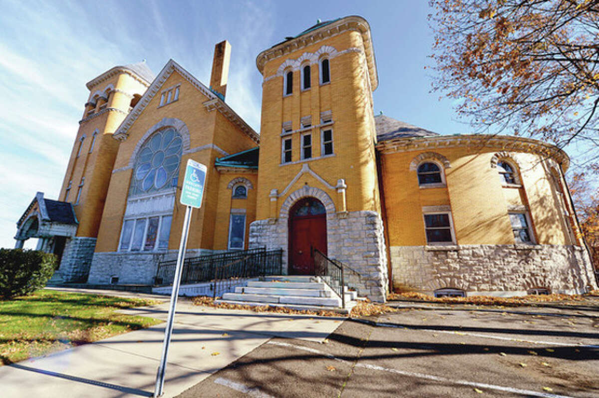 Hour photo / Erik Trautmann The former First United Methodist Church at 39 West Ave. was recently added to the State Register of Historic Places, but a local preservationist behind the effort says the fate of the building lies in the hands of the church and any prospective buyer.