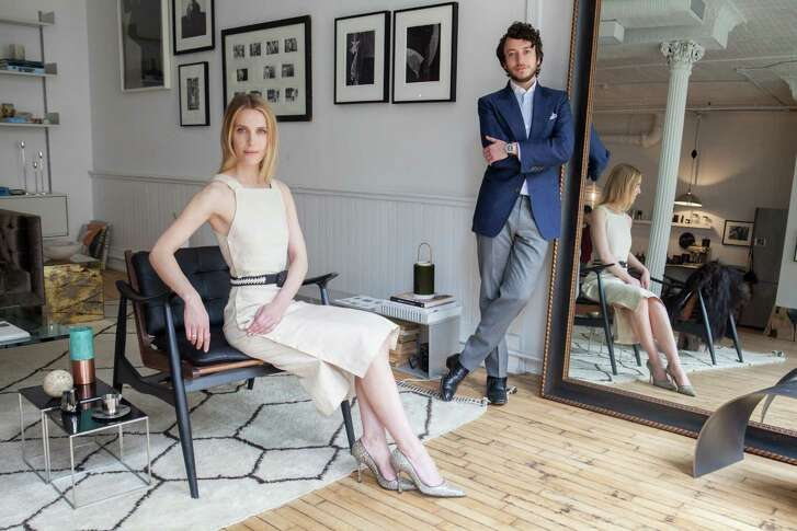 Vanessa Traina and Adam Pritzker, the duo behind Assembled Brands, at their office in SoHo, May 24.