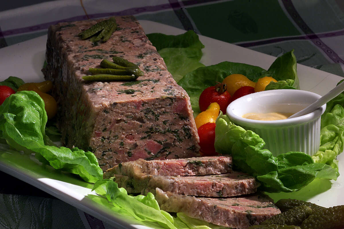 Menu terms, defined 24. Terrine - 51 percentA French meat loaf dish, similar to p pâté, made with more coarsely chopped ingredients. Shown:A turkey terrine.Source: OpenTable