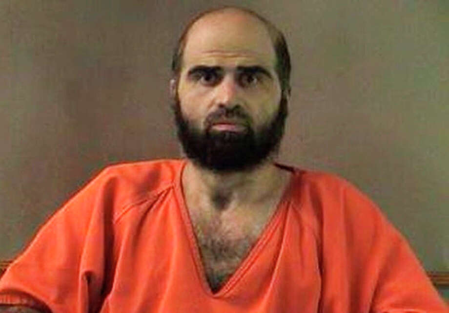 FILE - This undated file photo provided by the Bell County Sheriff's Department shows Army psychiatrist Maj. Nidal Hasan. Hasan has been convicted of murder Friday, Aug. 23, 2013 at Fort Hod for the 2009 shooting rampage at Fort Hood that killed 13 people and wounded more than 30 others. (AP Photo/Bell County Sheriff's Department, File) / Bell County Sheriff's Department