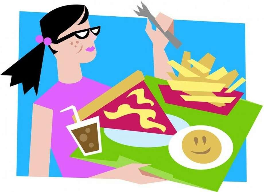 Cafeteria junk food
