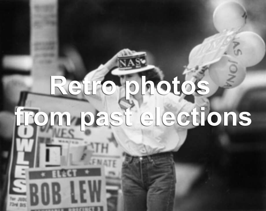 Remember the first time you ever voted in an election? These archived photographs from past elections dating back to the 1970s, sparking memories of old-school ballots and wistful campaigns. Photo: San Antonio Express-News