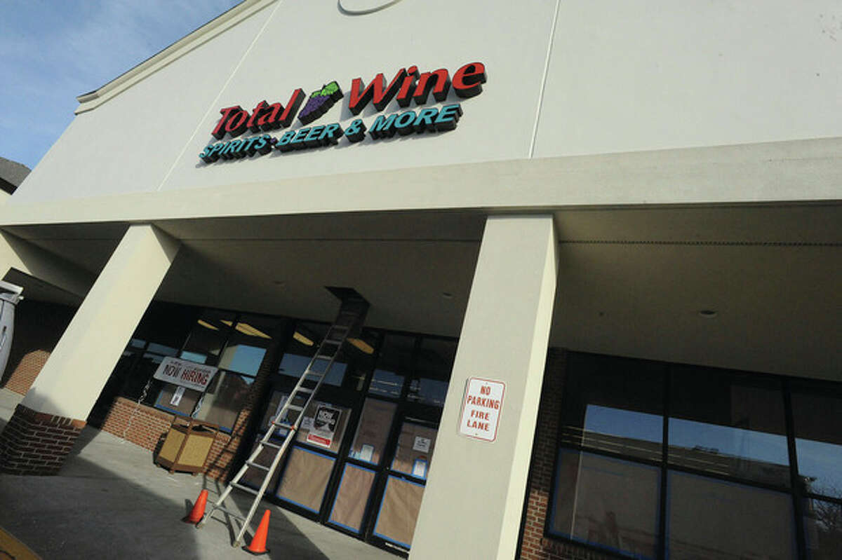 Hour photo/Matthew Vinci Total Wine & More, a liquor superstore with more than 85 locations in 13 states, will open next month in Norwalk on Main Avenue.