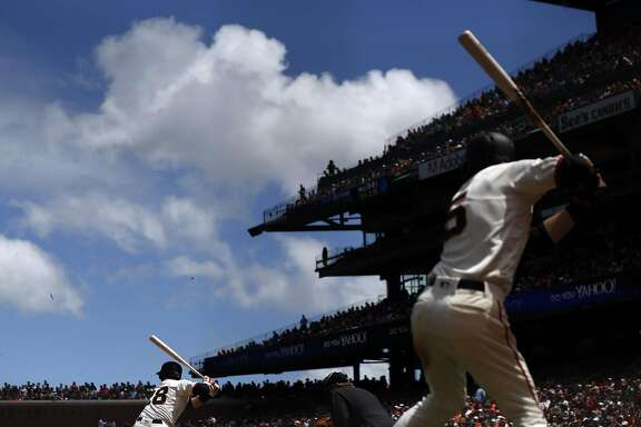 San Francisco Giants' Buster Posey bats in 6th inning against Milwaukee Brewers during MLB game at AT&T Park in San Francisco, Calif., on Wednesday, June 15, 2016.