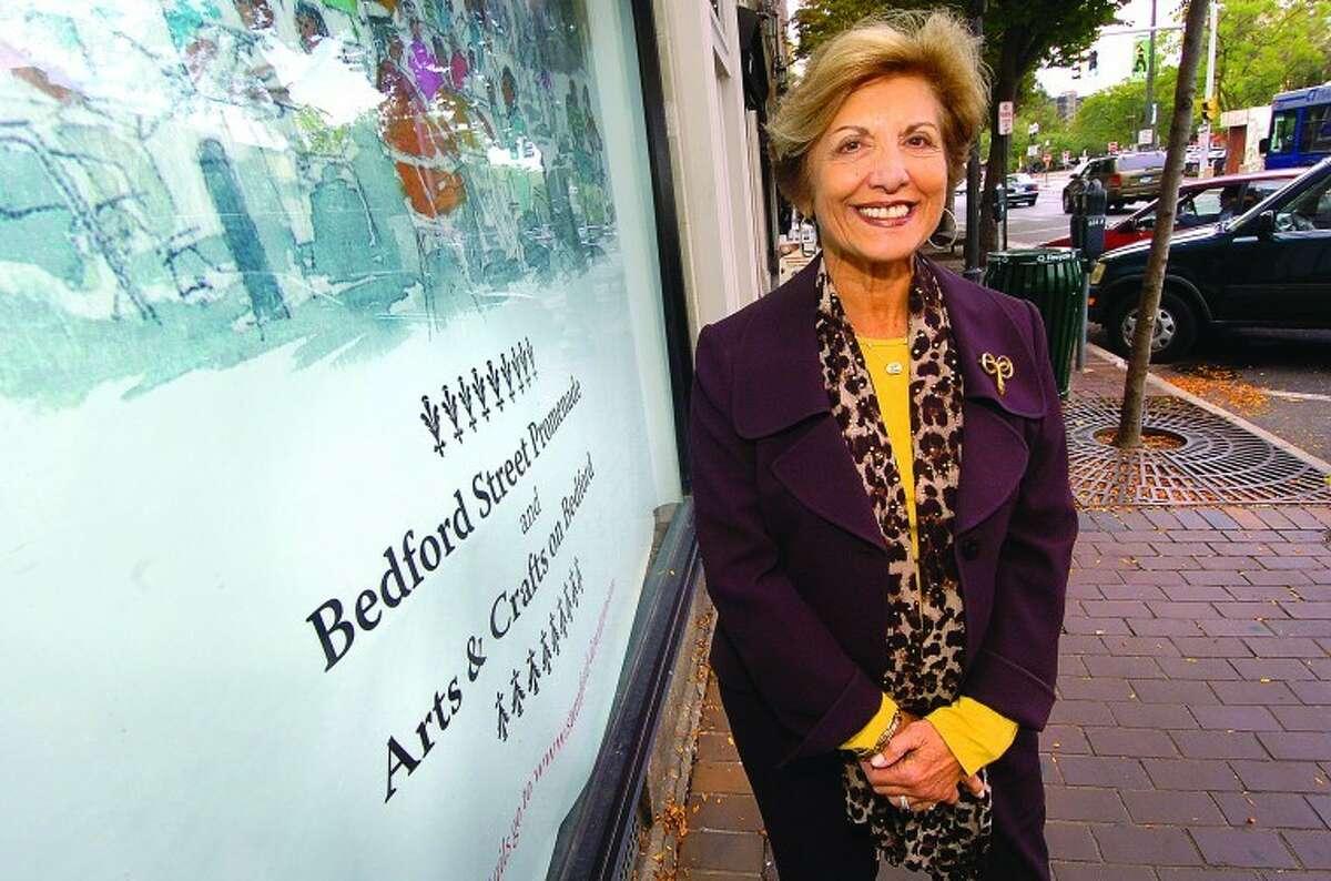 Sandy Goldstein on Bedford Street in Stamford.