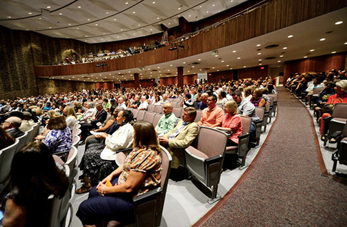 Stamford Public School staff attend the 2013-14 school year staff convocationat Westhill High School Wednesday morning.