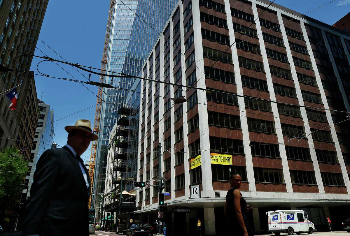 A new Marriott is planned for the 723 Main Street building in downtown Houston, Wednesday, June 15, 2016. The redevelopment of the building will be a continuation of the changes along Main Street, including several public art installations, that have occurred near the Main Street Square Metro light rail stop. ( Mark Mulligan / Houston Chronicle )