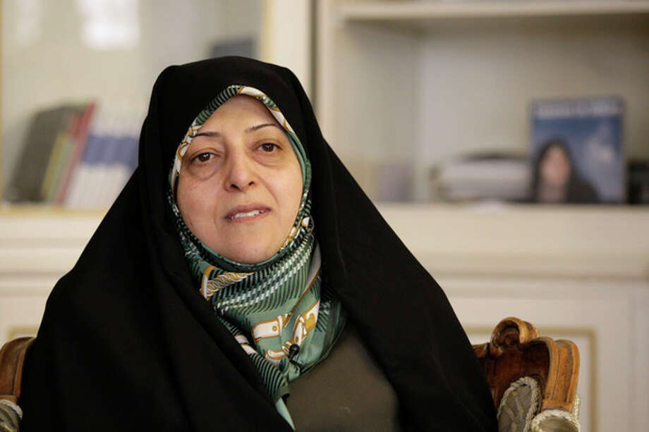 In this photo taken on Thursday, Feb. 14, 2013, Masoomeh Ebtekar, who was one of the Iranian students who occupied the U.S. Embassy in Tehran in 1979 and acted as the Iranian students' spokeswoman, speaks in an interview with The Associated Press, in Tehran, Iran. Iran's official IRNA news agency is reporting President Hasan Rouhani has appointed Masoomeh Ebtekar as vice-president in charge of environment affairs. (AP Photo/Vahid Salemi) / AP