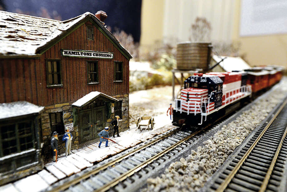 The Rowayton Historical Society features a train display by Brian Kammerer at Pinkney house in advance of Light Up Rowayton Sunday evening. Hour photo / Erik Trautmann / (C)2012, The Hour Newspapers, all rights reserved