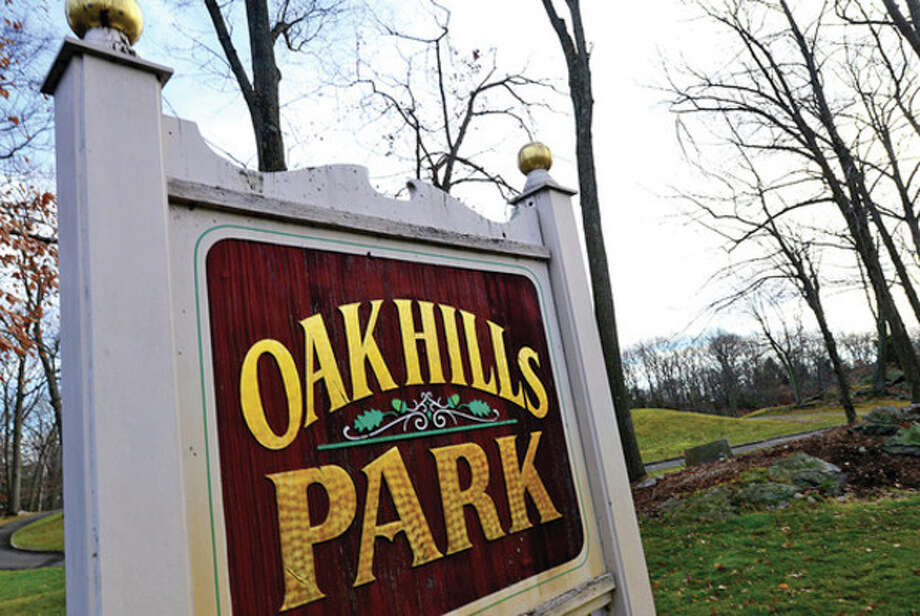 Hour photo / Erik TrautmannOak Hills Park Authority reportedly is $53,000 over par in its new fiscal year, in part due to Hurricane Sandy. / (C)2012, The Hour Newspapers, all rights reserved