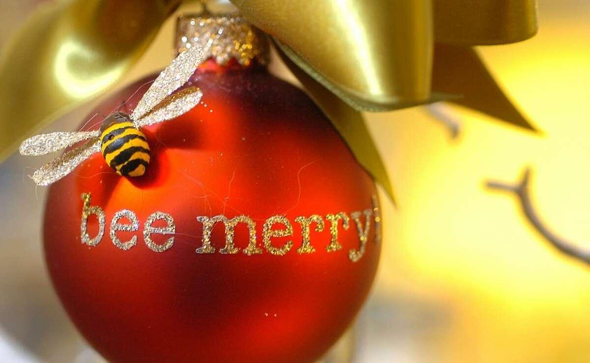 Hour Photo/Alex von Kleydorff. One of Laurie Davis' holiday ornaments made in her Glitterworks studio