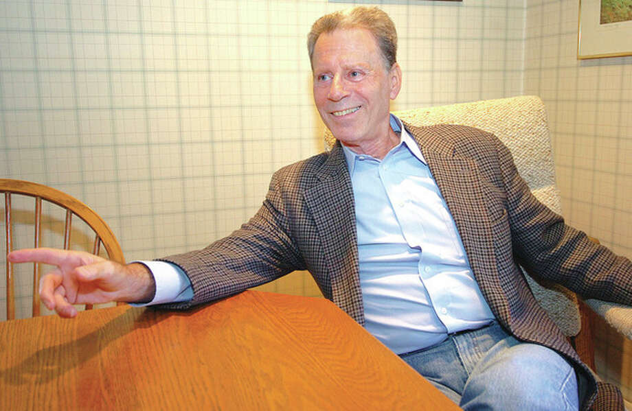 Hour Photo / Alex von KleydorffPsychiatrist and author Mark Rubenstein M.D. in his Wilton office / 2012 The Hour Newspapers