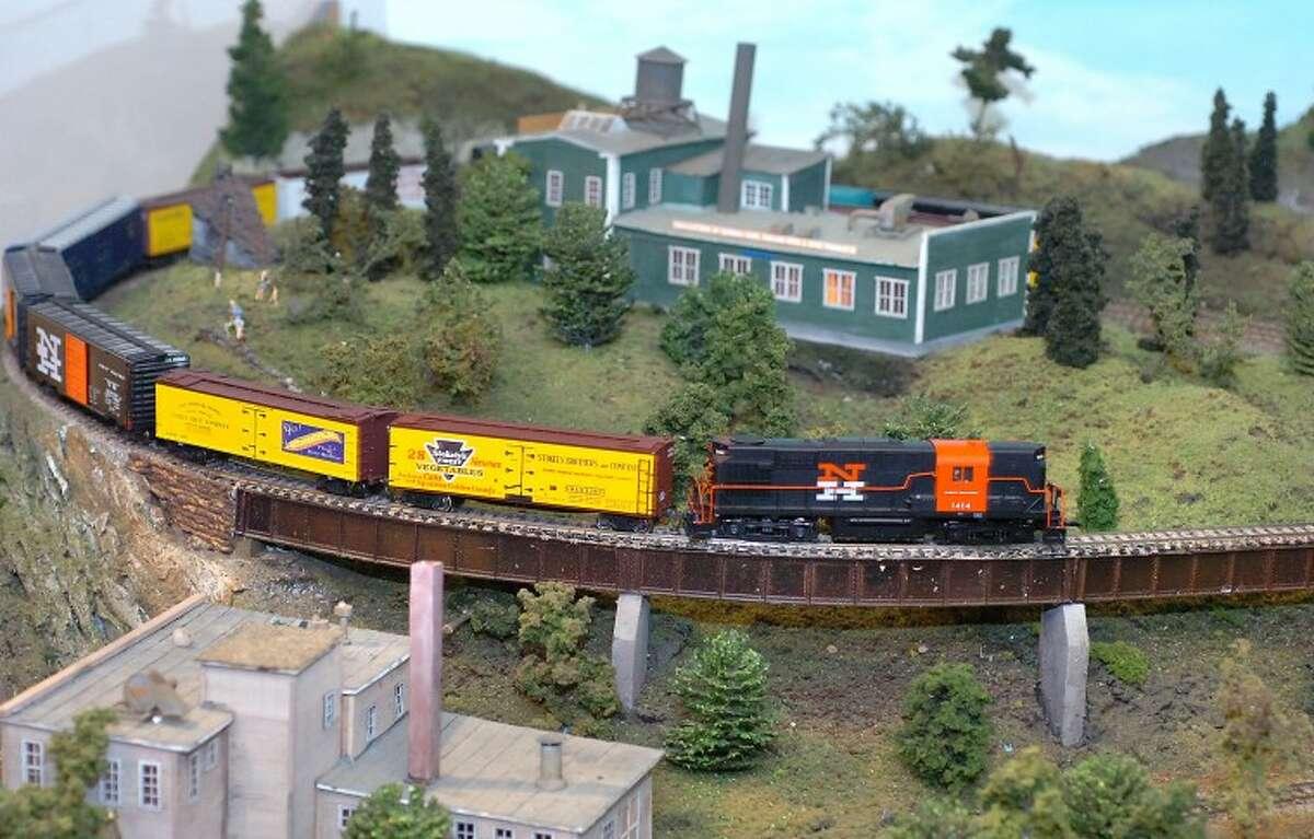 Hour Photo/Alex von Kleydorff. The Great Trains exhibit at The Wilton Historical Society