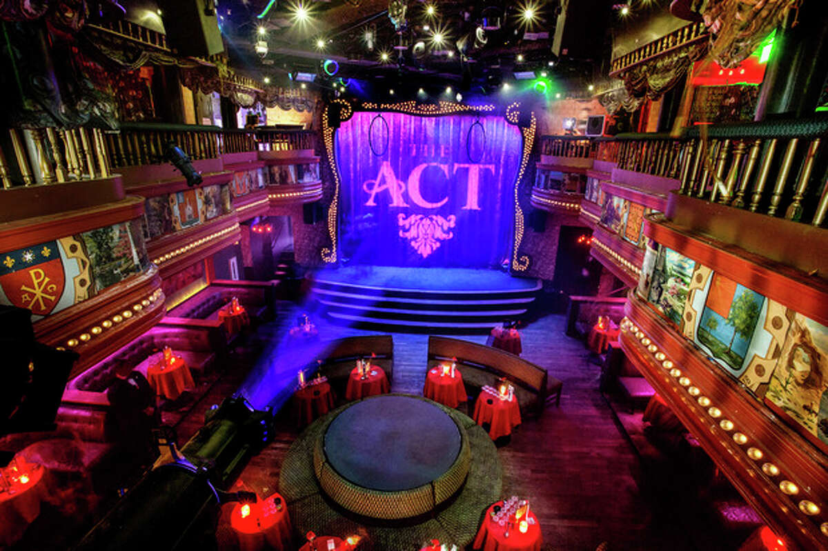 This image provided by The Act nightclub shows the interior of the club located at the Palazzo hotel-casino on the Las Vegas Strip. The Palazzo is hoping to terminate their 10-year agreement with the nightclub after 10 months of operation. They say the shows at the venue inside the Palazzo are so raunchy they violate obscenity laws. (AP Photo/The Act Nightclub, Shane O?'Neal)