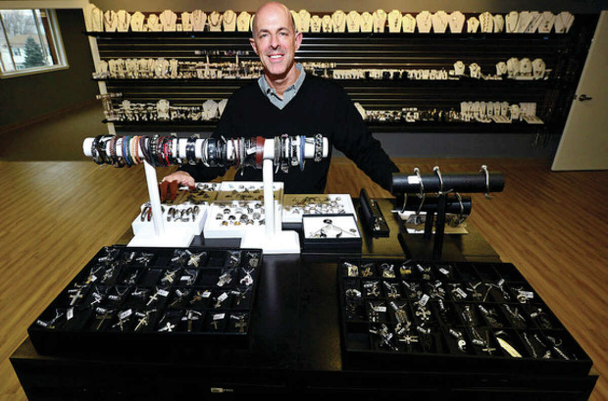 Sales One CEO Mark Hollis. The body jewelry distributor, recently moved to 16 Fitch St. in Norwalk. Hour photo / Erik Trautmann