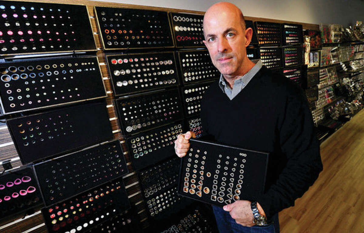 SalesOne CEO Mark Hollis. The body jewelry distributor, recently moved to 16 Fitch St. in Norwalk. Hour photo / Erik Trautmann