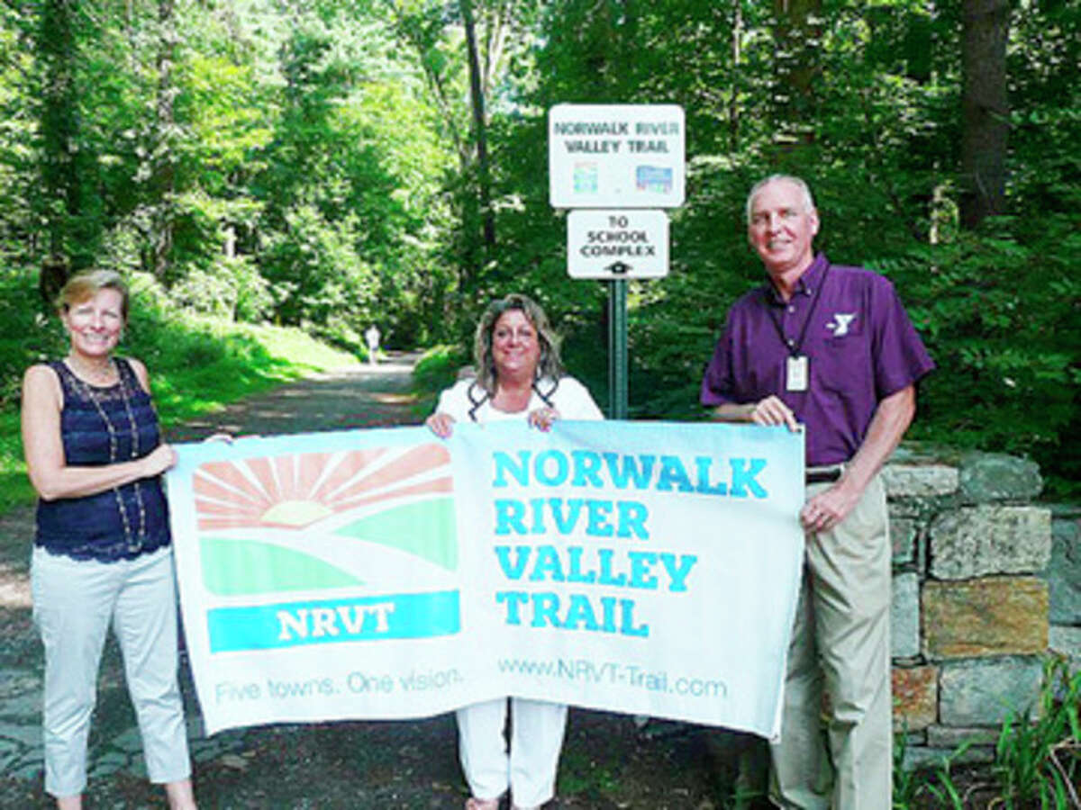 Patricia Sesto, NRVT chairperson; Carol Johnson, Wilton Alliance for a Healthy Community co-chairman; Bob McDowell, executive director of the Wilton Family Y.