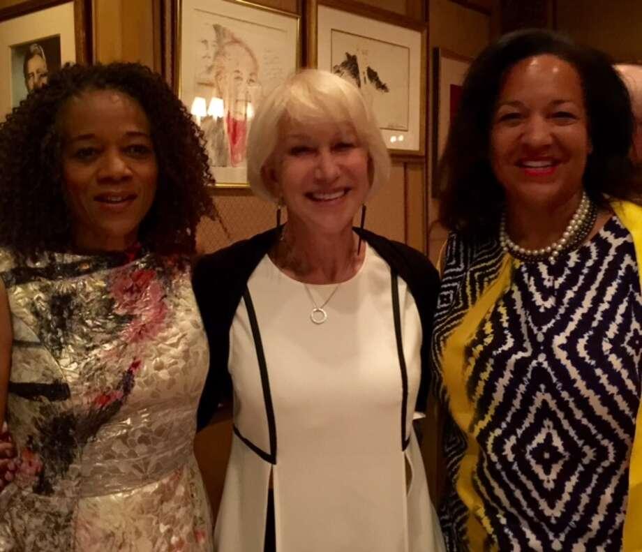 Paula West, Helen Mirren and Karen Clopton at Friars Club