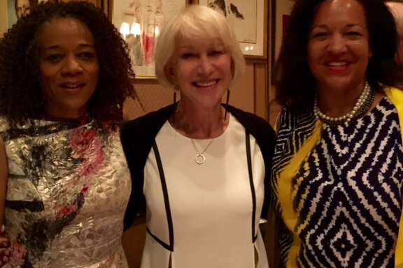 Paula West, Helen Mirren and Karen Clopton at Friars Club