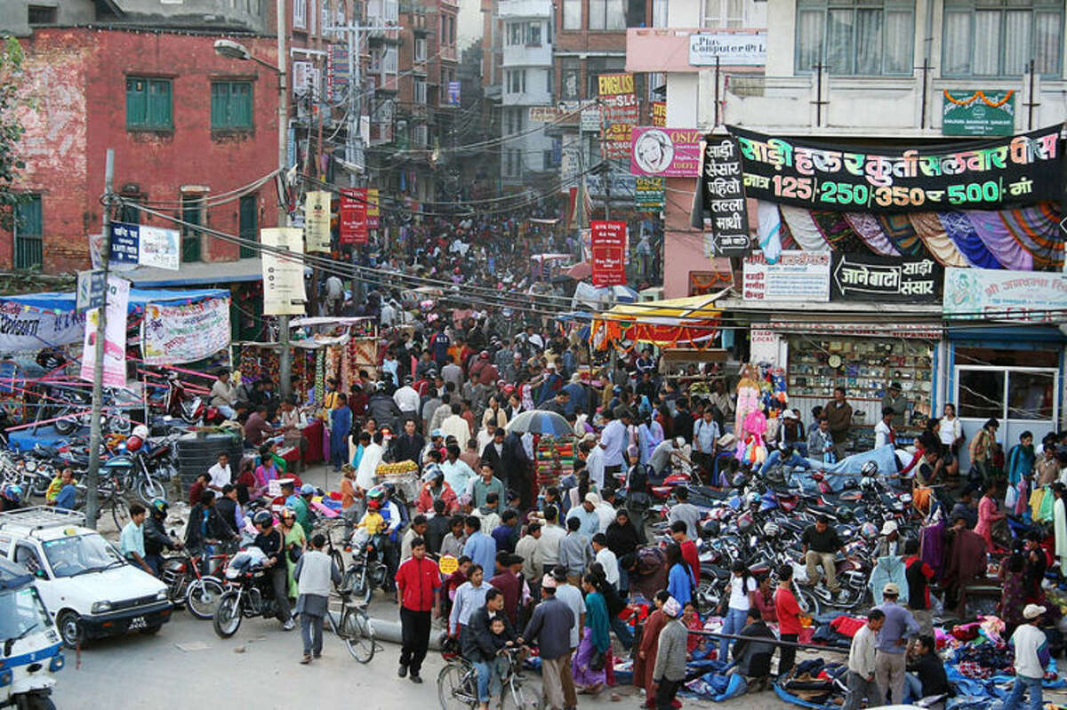 Pavel Novak  The jury is still out as to whether human overpopulation will become a footnote in history or the dominant ill that stands in the way of all other efforts to achieve sustainability and a kinder, gentler world. Pictured: A crowded street in Kathmandu, Nepal