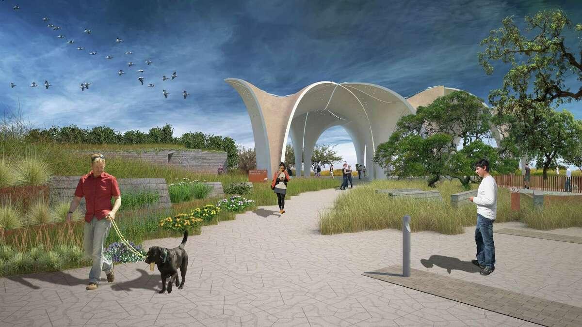 Confluence Park renderings. Renderings courtesy of San Antonio River Foundation