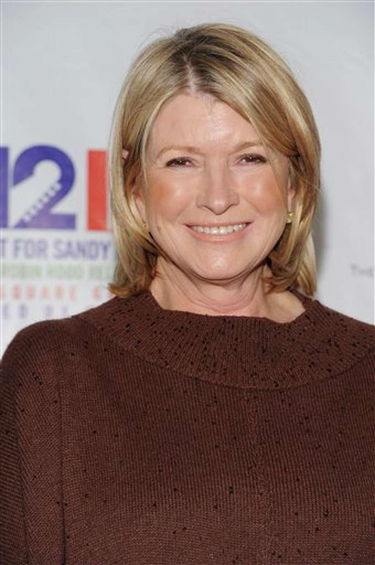 Martha Stewart appears backstage at