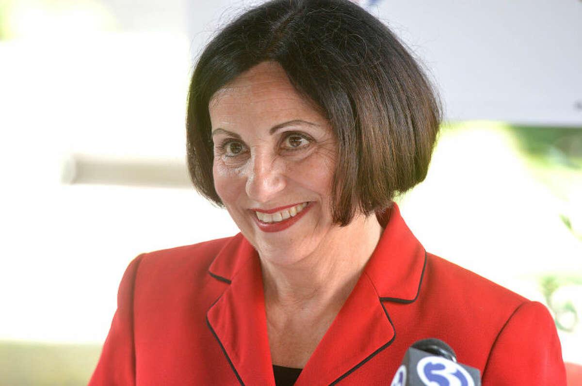 Hour Photo/Alex von Kleydorff . State Senator Toni Boucher announces she is exploring a run for Governor