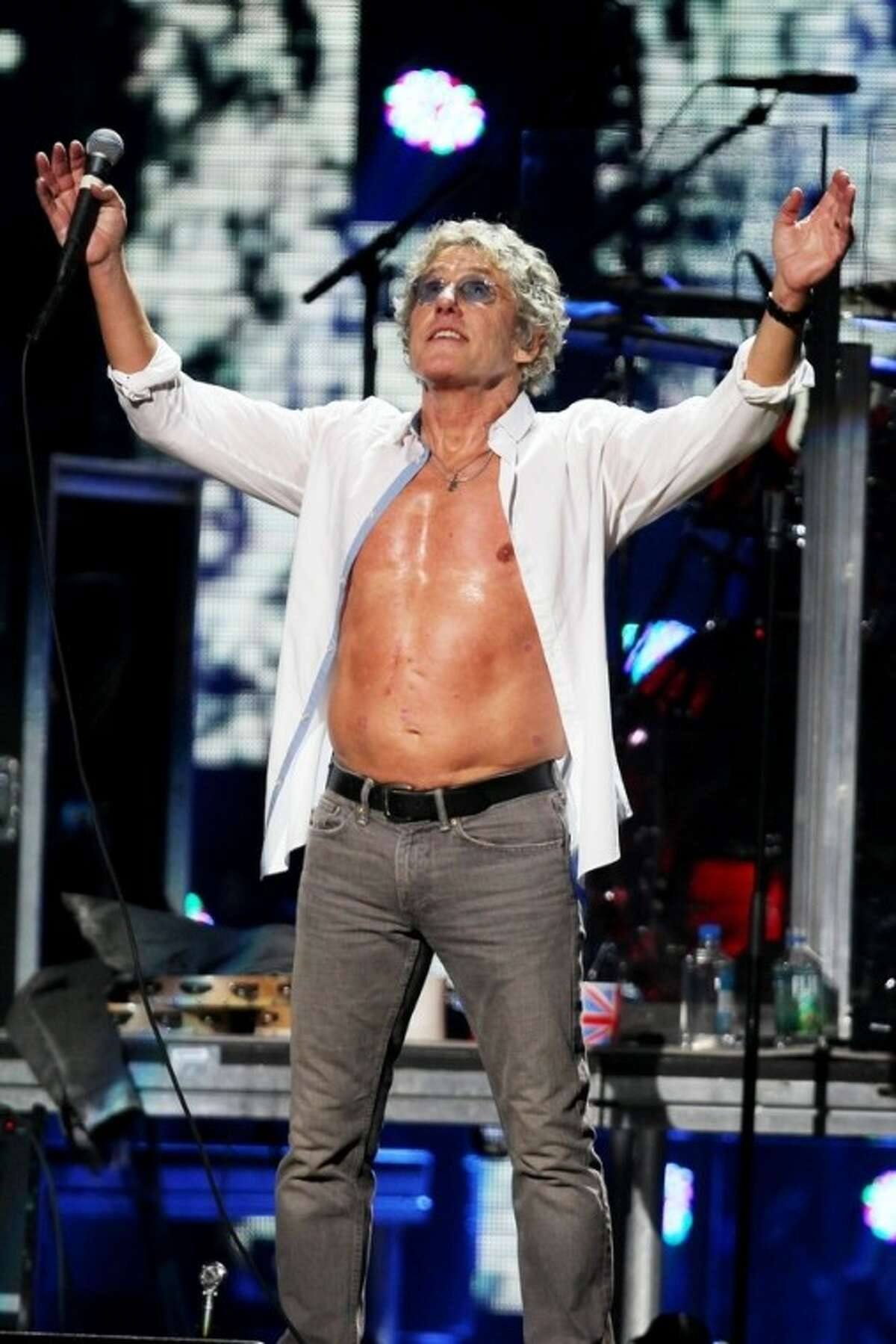 This image released by Starpix shows Roger Daltrey of The Who at the 12-12-12 The Concert for Sandy Relief at Madison Square Garden in New York on Wednesday, Dec. 12, 2012. Proceeds from the show will be distributed through the Robin Hood Foundation. (AP Photo/Starpix, Dave Allocca)