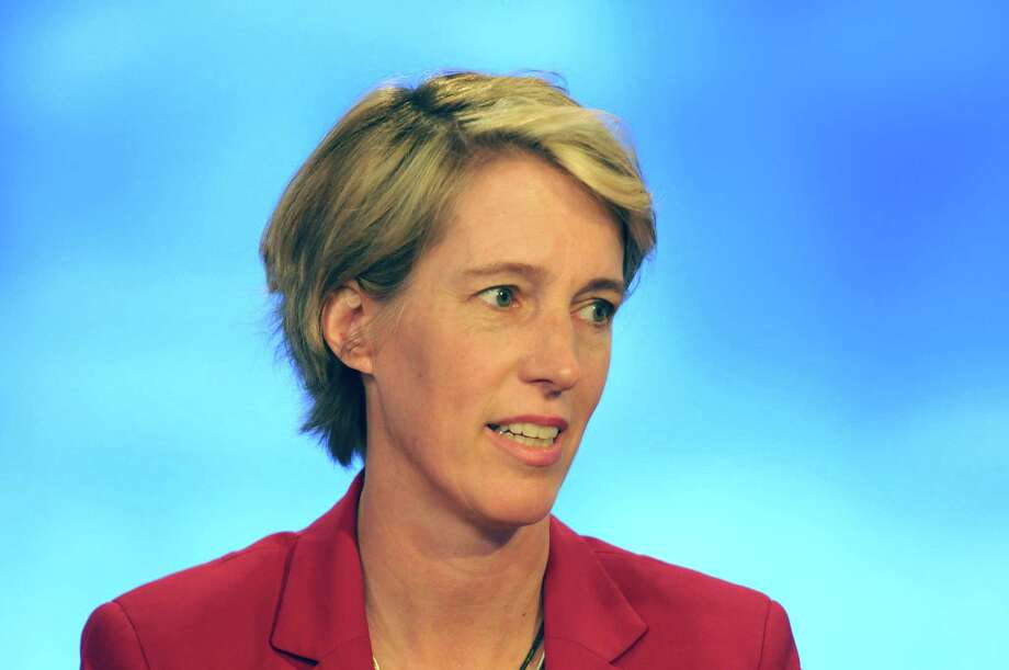 Zephyr Teachout during her debate with Will Yandik, Democratic candidates for the 19th Congressional District seat, on Capital Tonight at the TWC News studios on Wednesday June 15, 2016 in Albany, N.Y. (Michael P. Farrell/Times Union) Photo: Michael P. Farrell / 40036990A