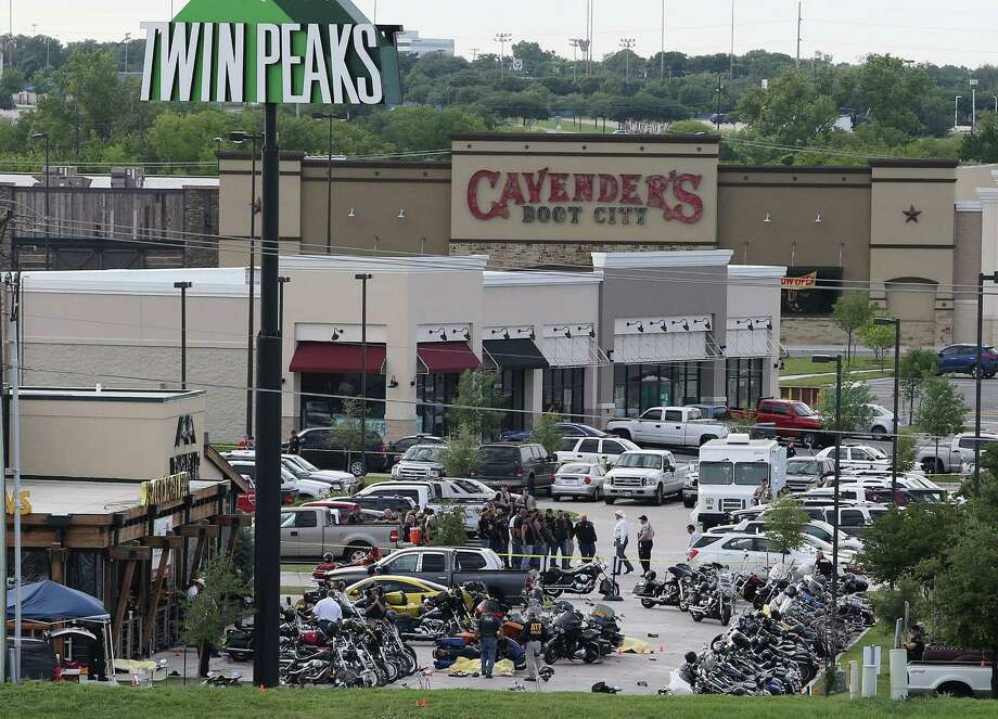 After a shootout between two motorcycle clubs in Waco on May 17, 2015, a gag order that banned bikers from speaking to the press was thrown out Wednesday.  Photo: Jerry Larson, FRE / FR91203 AP