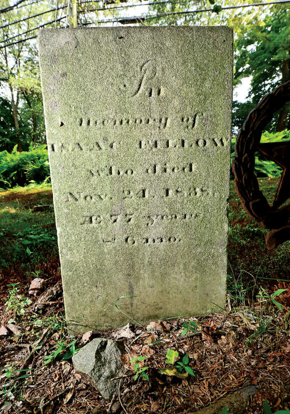 Ed Eckert can trace his lineage back to Richard Olmstead who help found Norwalk back in 1651. He is descended from Isaac Fillow who fought in the Revolutionary war in Norwalk and Fairfield and is buried in Westport. Hour photo / Erik Trautmann