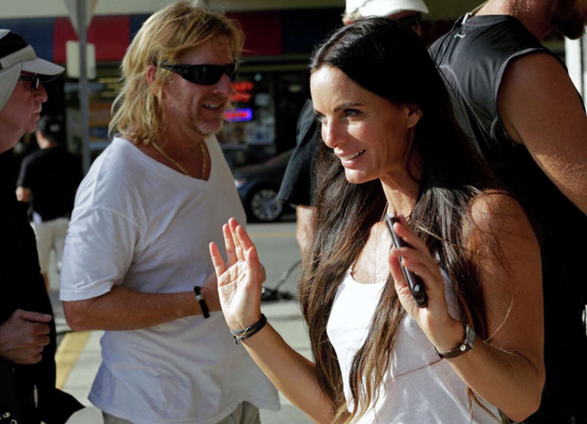 In this July 24, 2013, photo, actress Gabrielle Anwar takes a break during taping for an episode of