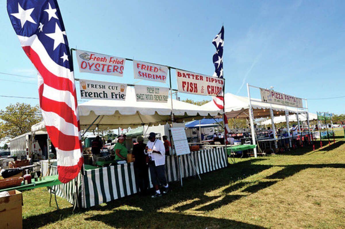 Oysters and other seafood sold to those attending the 36th annual Norwalk Oyster Festival Saturday.