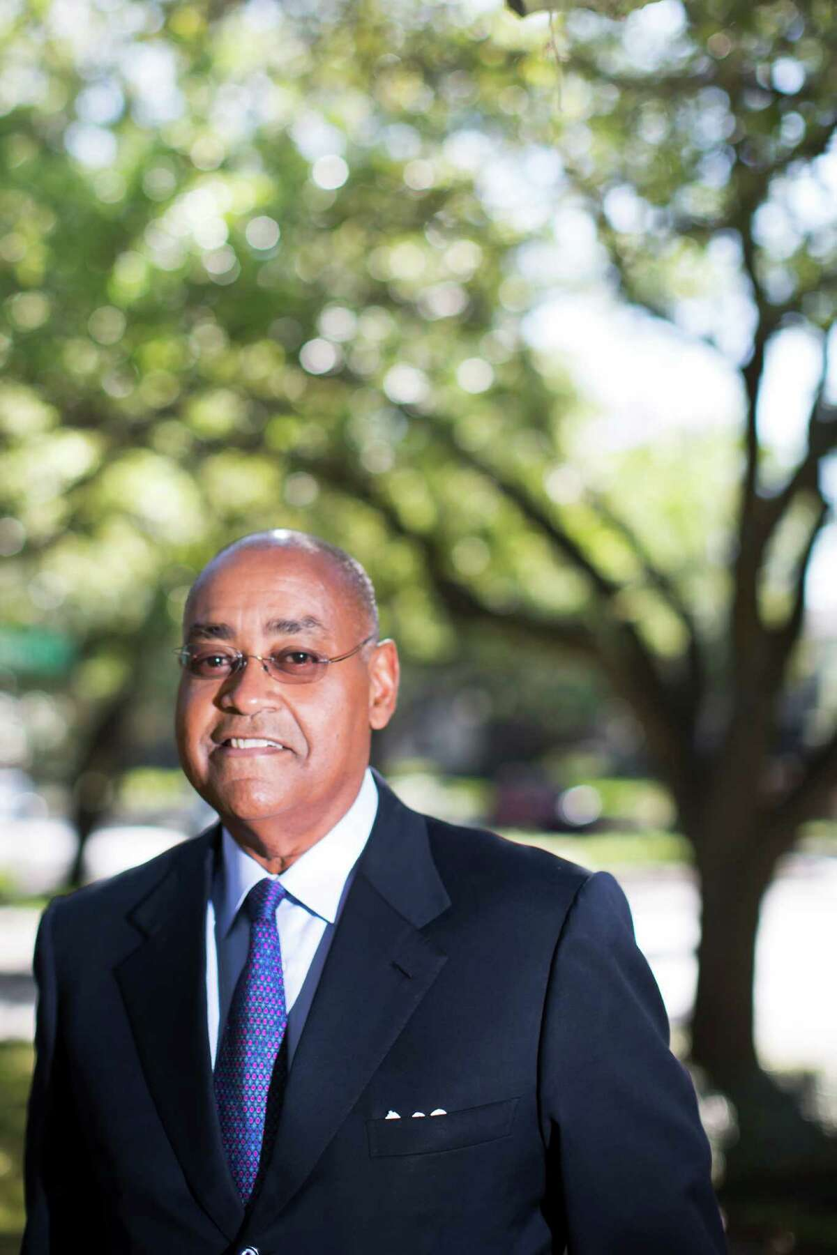 Senator Rodney Ellis is the state senator for Texas' 13th state senate district. The district contains portions of Harris County, including downtown Houston, and Fort Bend County. He is a member of the Democratic Party. Friday, March 25, 2016, in Housto. ( Marie D. De Jesus / Houston Chronicle )