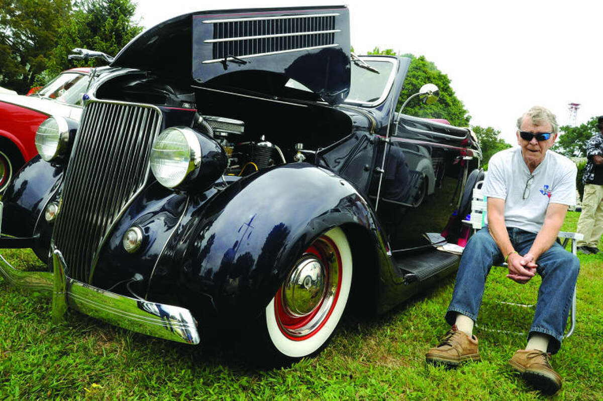 Gene Fitzgerald with his 1936 Ford Cabriolet Sunday at the American Legion Post 12 classic car show. Hour photo/Matthew Vinci
