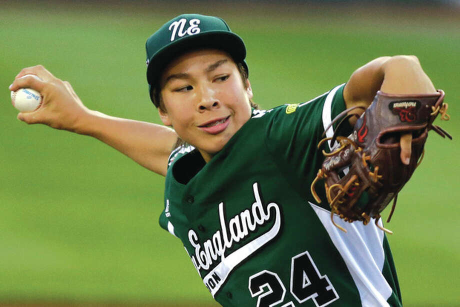 AP photoWestport pitcher Chad Knight delivers a pitch last week during the team's opening day in the Little League World Series. In addition to his prowess on the ball field. Knight is a solid student and plays piano. But baseball is his first love. / AP