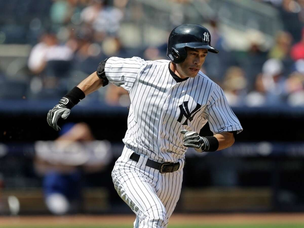 New York Yankees' Ichiro Suzuki runs the bases after hitting a double during the third inning of the baseball game against the Toronto Blue Jays at Yankee Stadium Tuesday, Aug. 20, 2013 in New York. (AP Photo/Seth Wenig)
