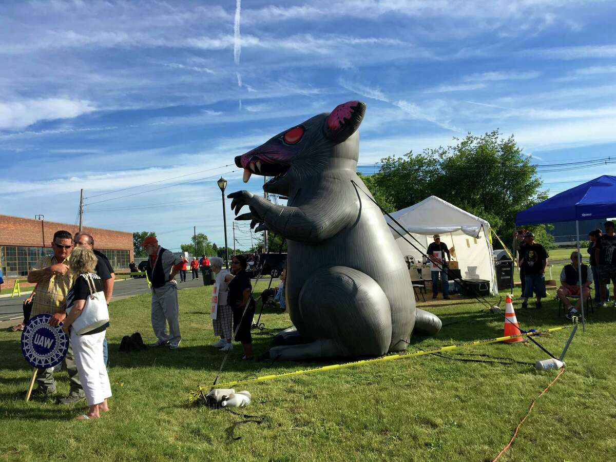 Attendees gathered Wednesday to support 42 locked-out Honeywell Aerospace union workers.