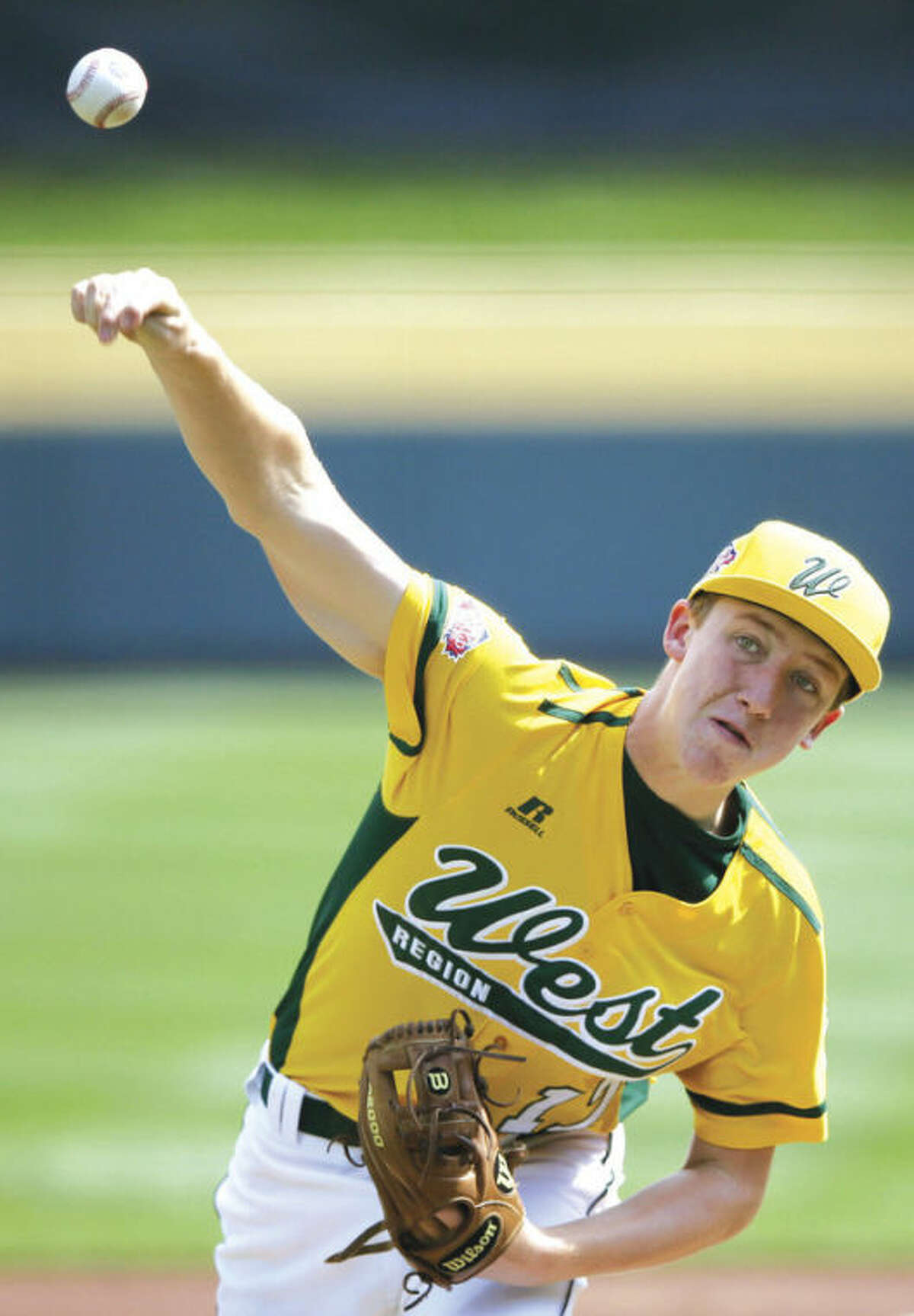 AP photo Grant Holman of Chula Vista, Cal., delivers a pitch during the second inning of his Little League World Series no-hitter against Grosse Pointe, Mich. Most observers expect Holman to square off against Westport ace Chad Knight in Wednesday night's winners bracket final.