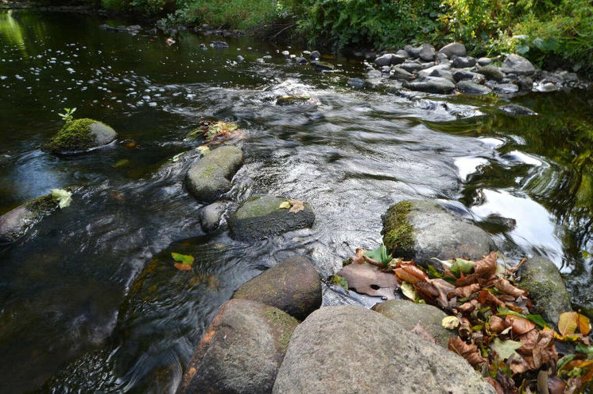 Hour Photo/Alex von Kleydorff . The Norwalk River runs through the Keiser Property.