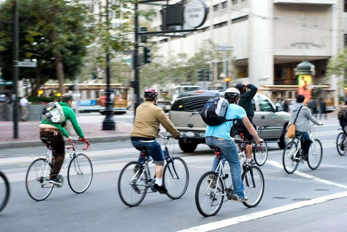 City bikers in San Francisco