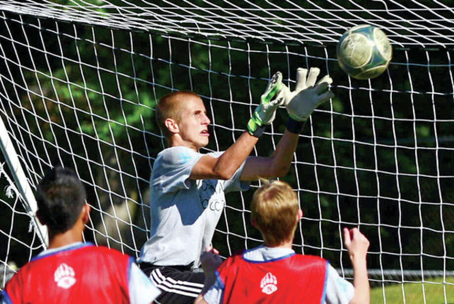 Hour photo/Erik TrautmannNorwalk High School boys soccer player Tyler Dalton takes over the starting goalkeeper duties from a three-year starter and is part of a new-look Bears program. / (C)2013, The Hour Newspapers, all rights reserved