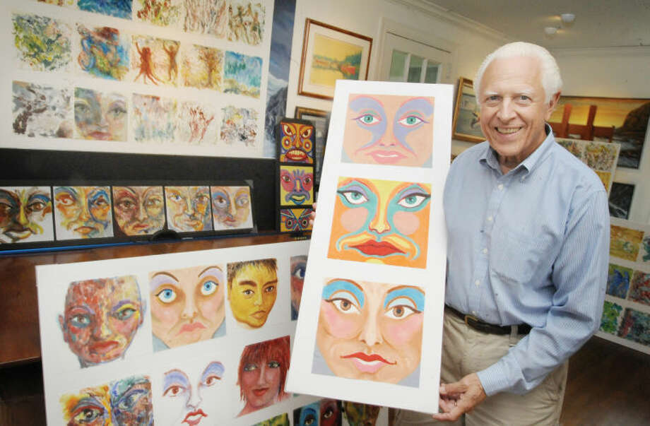 Stamford artist, Ken Delmar, 72, creates paintings on paper towels that sell for between $1,500 to $10,000. Delmar's work is currently being featured at an art exhibit in Manhattan.