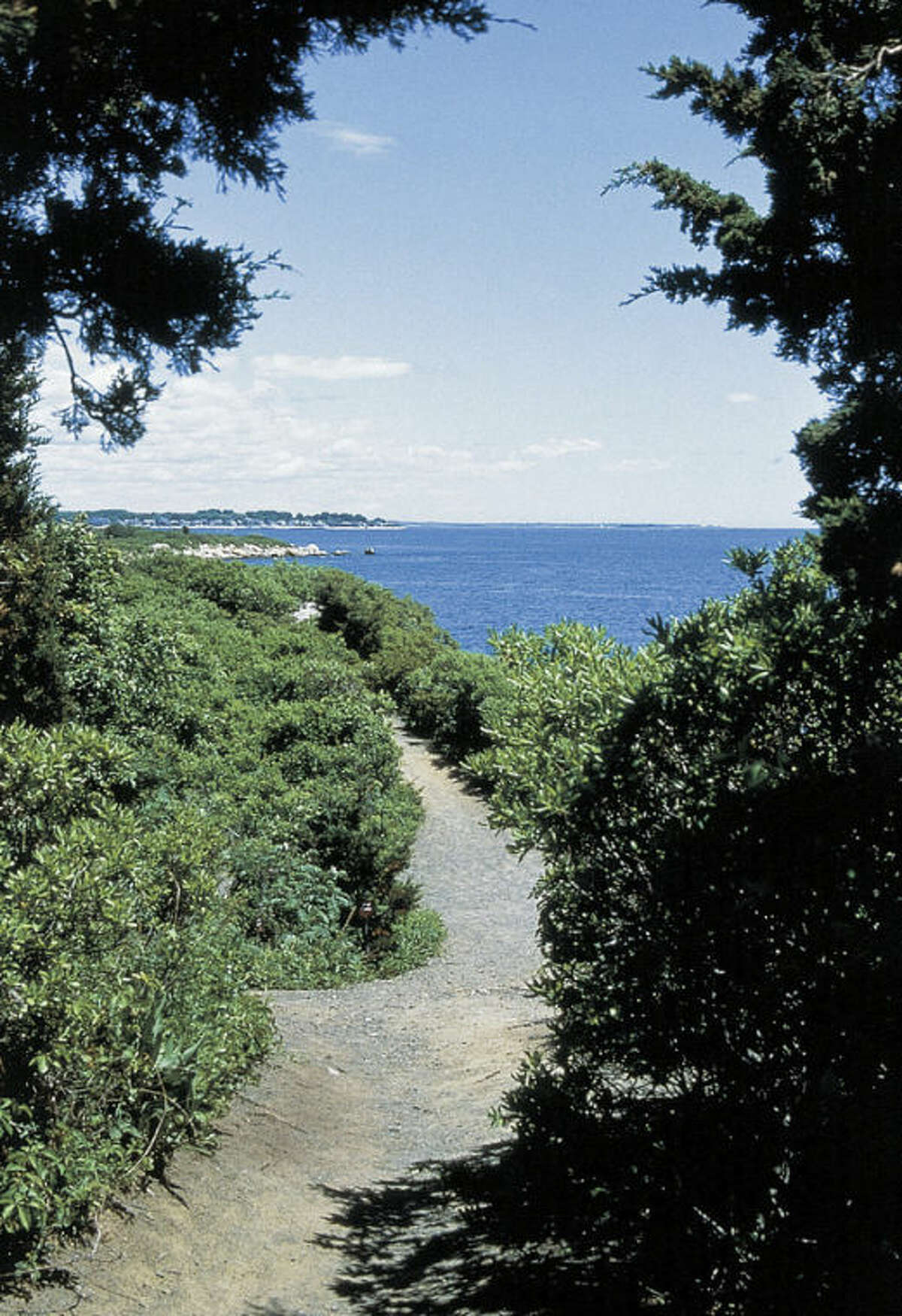 This undated photo provided by the Connecticut Office of Tourism shows a path at Hammonasset Beach State Park in Madison, Conn. Hammonasset is the state?'s largest shoreline park, with a boardwalk and more than 2 miles of beach. Parking is free from mid-September to April 20. (AP Photo/Connecticut Office of Tourism)