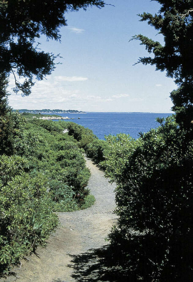 This undated photo provided by the Connecticut Office of Tourism shows a path at Hammonasset Beach State Park in Madison, Conn. Hammonasset is the state's largest shoreline park, with a boardwalk and more than 2 miles of beach. Parking is free from mid-September to April 20. (AP Photo/Connecticut Office of Tourism)