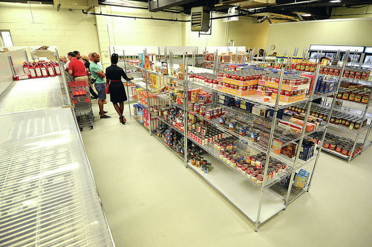Hour Photo/Alex von Kleydorff. The food pantry at Person to Person is filling up but there is room for more